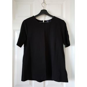 Gap Black Blouse With Exposed Zipper, M